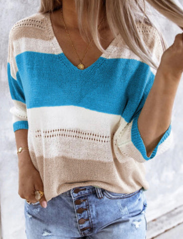 Long Sleeve Casual Knit Top