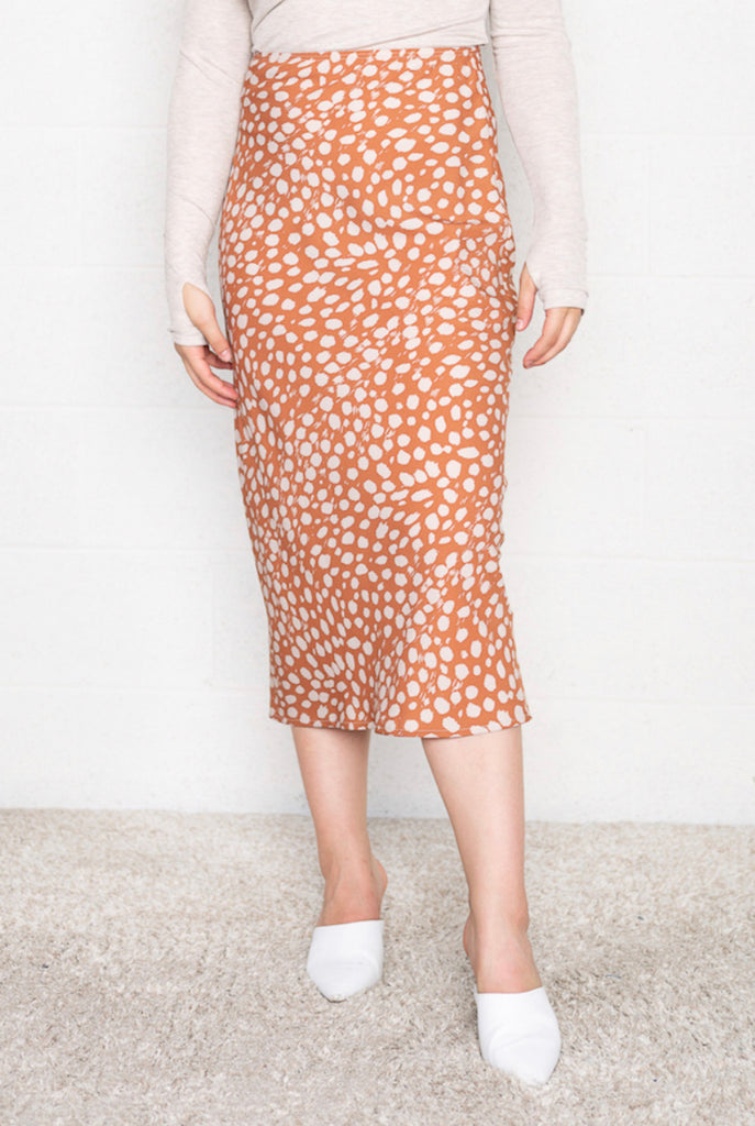 Patterned Midi Skirt (Sample)