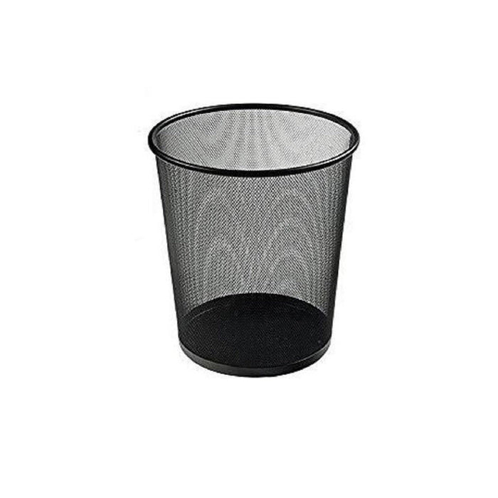 Office Black Metal Dustbin - murukali.com