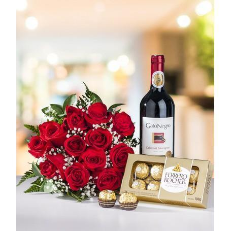 Bouquet, Wine &Chocolate - murukali.com