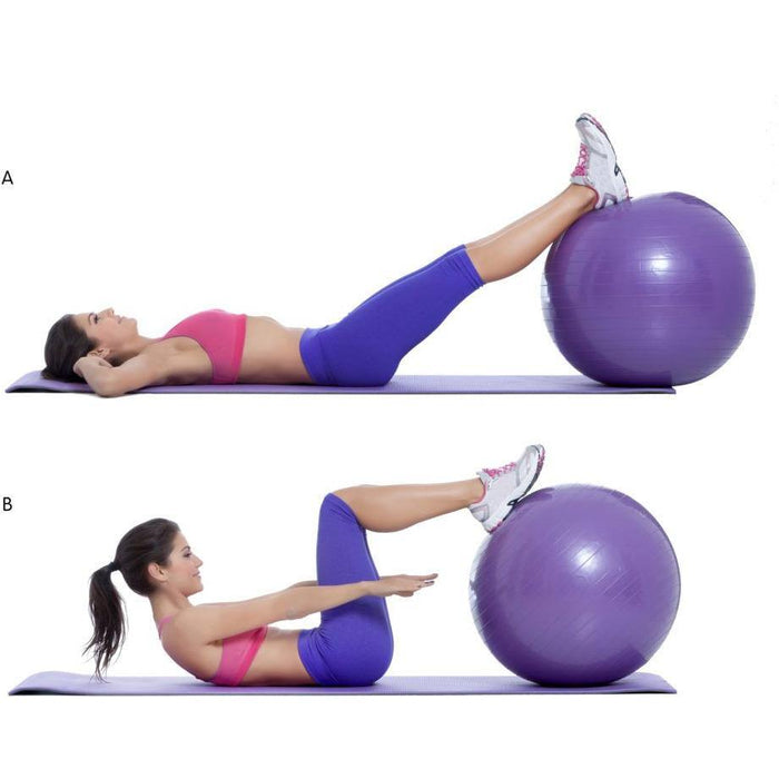 Exercise Ball Side Crunch - murukali.com