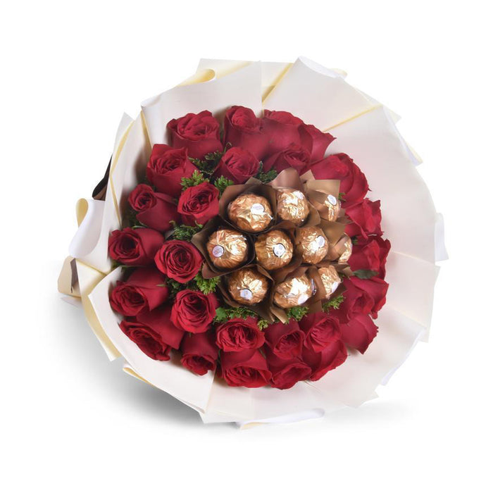 Roses&Ferrero Chocolate bouquet