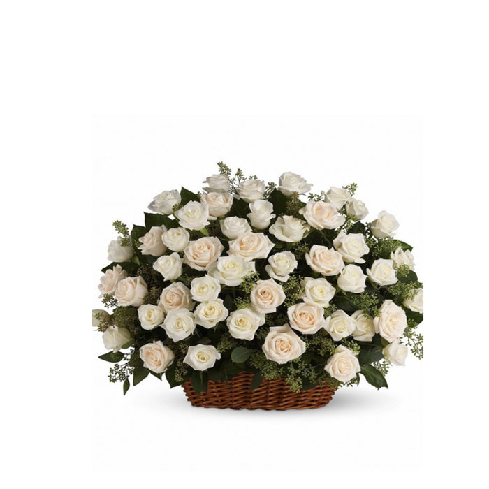 Sympathy Gift Delivery Flowers in Basket