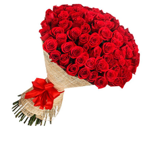 Red Rose Flowers Bouquet/ 100pcs - murukali.com