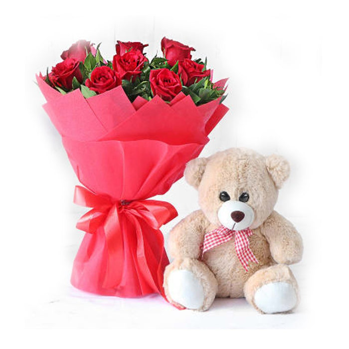Red Roses&Teddy love - murukali.com