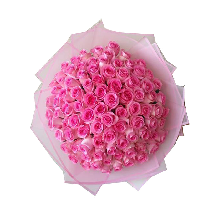 Flowers Rose Baby Pink Bouquet /100pcs