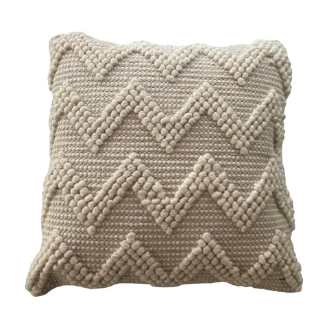 "Hadley Throw Pillow, Ivory (20""x20""x4"")"