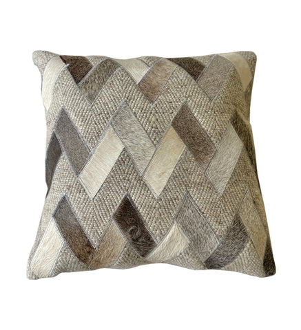 "Oliver Throw Pillow, Grey (18""x18""x4"")"