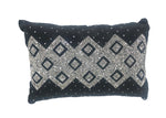 "Naya Throw Pillow, Black (24""x16""x4"")"