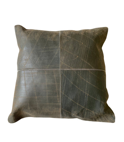 "Lincoln Throw Pillow, Grey (18""x18""x4"")"
