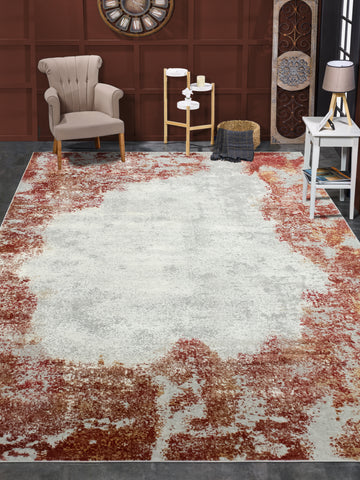 Louis Dalia Grey/Red Rug