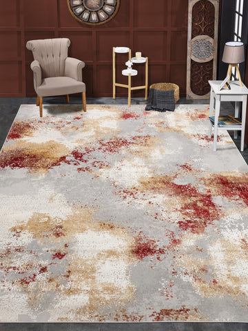 Louis Robyn Grey/Red Rug
