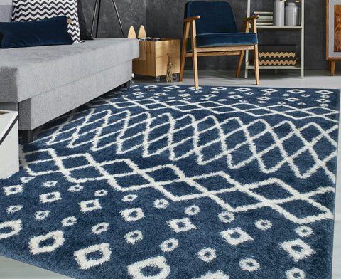 Lux Roy Blue/Ivory Rug