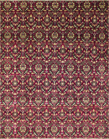 "Peshawar Qazyna Purple/Black Rug, 9'1"" x 11'9"""