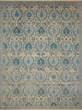 "Sophia Sabina Grey/Blue-Green Rug, 9'0"" x 12'2"""