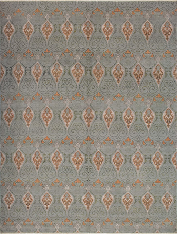 "Sophia Bartram Grey/Green Rug, 9'1"" x 12'0"""