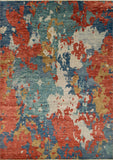 "Sophia Coleman Red/Blue Rug, 10'0"" x 14'0"""