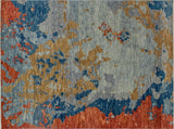 "Sophia Roscoe Grey/Red Rug, 7'10"" x 10'2"""