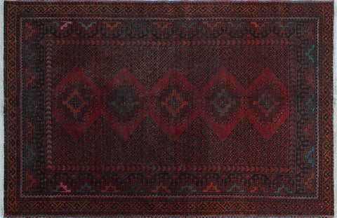 "Vintage Agnes Rust/Brown Rug, 4'0"" x 6'2"""