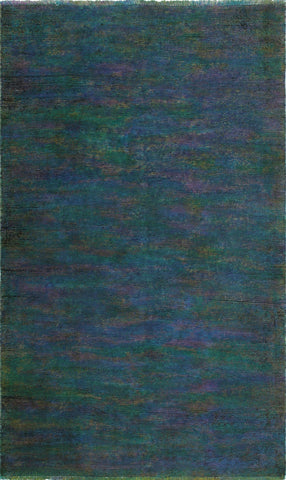 Vintage Ryan Purple/Green Rug, 3'10 x 6'1