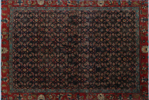 "Vintage Bessie Purple/Orange Rug, 4'3"" x 6'4"""