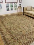 "Wali Agra 2 Lt. Green/Brown Rug, 9'0"" x 12'4"""