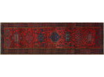 "Semi Antique Aaryan Red/Blue Runner, 3'6"" x 11'6"""