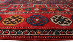 "Vintage Bernadette Red/Blue Runner, 4'10"" x 9'8"""