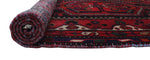 "Vintage Dhahir Red/Blue Rug, 3'10"" x 6'3"""