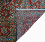 "Semi Antique Kazveen Blue/Red Rug, 8'0"" x 12'5"""