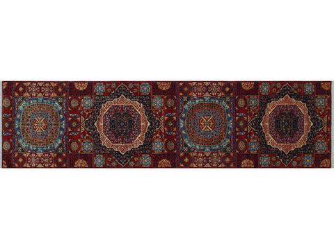 "Aria Delia Red/Blue Runner, 2'7"" x 9'9"""