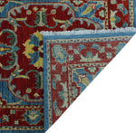 "Aria Melba Lt. Blue/Red Runner, 2'10"" x 9'10"""