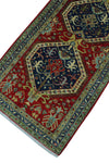 "Aria Jeri Red/Blue Runner, 2'7"" x 8'4"""