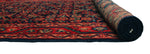 "Semi Antique Wadood Blue/Red Runner, 3'8"" x 12'1"""