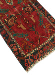 "Semi Antique Warith Red/Blue Runner, 3'6"" x 11'7"""