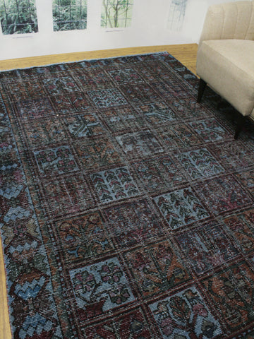"Vintage Feroz Grey/Purple Rug, 6'5"" x 9'3"""