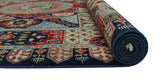 "Aria Bahman Blue/Red Rug, 6'1"" x 9'0"""