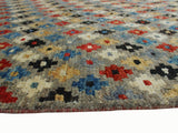 "Balochi Ted Grey/Red Rug, 4'9"" x 6'8"""