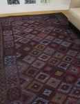 "Elan Rihab Purple/Blue Rug, 6'5"" x 9'9"""