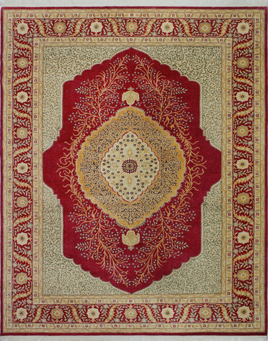 "Ankara Kiana Red/Gold Rug, 9'2"" x 11'10"""