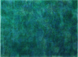 "Overdyed Zlikan Blue/Green Rug, 8'11"" x 12'4"""