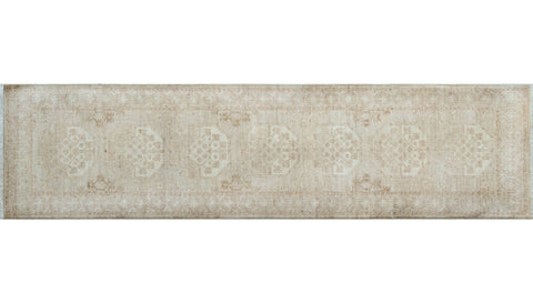 "Yousafi Parwiz Beige/Brown Runner, 2'6"" x 9'8"""