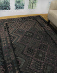 "Sangat Vashti Black/Brown Rug, 5'9"" x 7'7"""