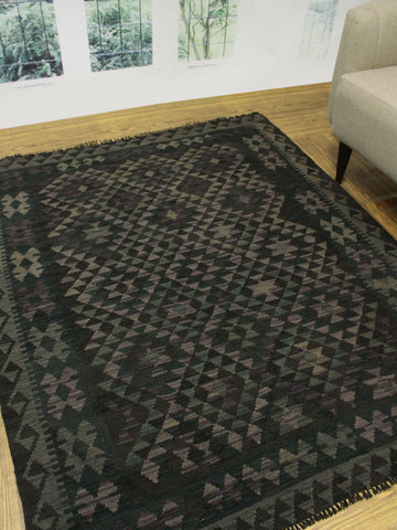 "Sangat Ghita Brown/Purple Rug, 5'1"" x 6'5"""
