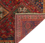 "Semi Antique Bakir Red/Blue Rug, 3'9"" x 5'3"""