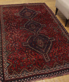 "Vintage Westley Red/Blue Rug, 4'11"" x 7'7"""