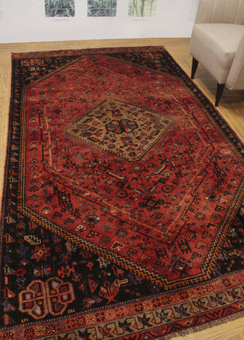 "Semi Antique Nikolas Red/Charcoal Rug, 5'6"" x 9'10"""