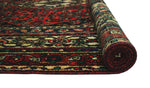 "Vintage Garfield Red/Ivory Rug, 7'4"" x 9'9"""