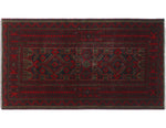 "Semi Antique Adam Blue/Red Rug, 3'2"" x 5'5"""