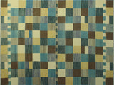 "Winchester Mounia Blue/Brown Rug, 9'2"" x 12'1"""
